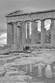 picture of parthenon  - A view of the outside of the Parthenon in Athens - JPG