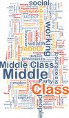 picture of middle class  - Background text pattern concept wordcloud illustration of middle class - JPG