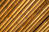 picture of log fence  - Full frame detail take of a fence - JPG