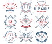pic of hitter  - Nine colored Vector sport badges and crests - JPG