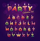 picture of alphabet  - Happy Birthday alphabet - JPG
