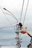 stock photo of electrician  - worker - JPG