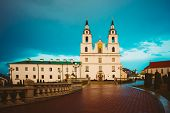 stock photo of holy-spirit  - Cathedral Of Holy Spirit In Minsk  - JPG