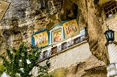 stock photo of gethsemane  - The icons is  in the  Assumption Monastery of the Caves - JPG