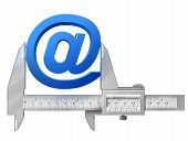 foto of measuring height  - Concept of email sign and measuring tool - JPG