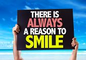 picture of feeling better  - There Is Always a Reason to Smile card with beach background - JPG