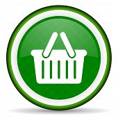 image of cart  - cart green icon shopping cart symbol