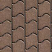 pic of slab  - Brown Paving Slabs of the Wavy Form - JPG