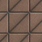 pic of paving  - Brown Paving Slabs in the Form Square of a Triangle - JPG