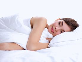 pic of adults only  - Beautiful girl sleeps in the bedroom - JPG