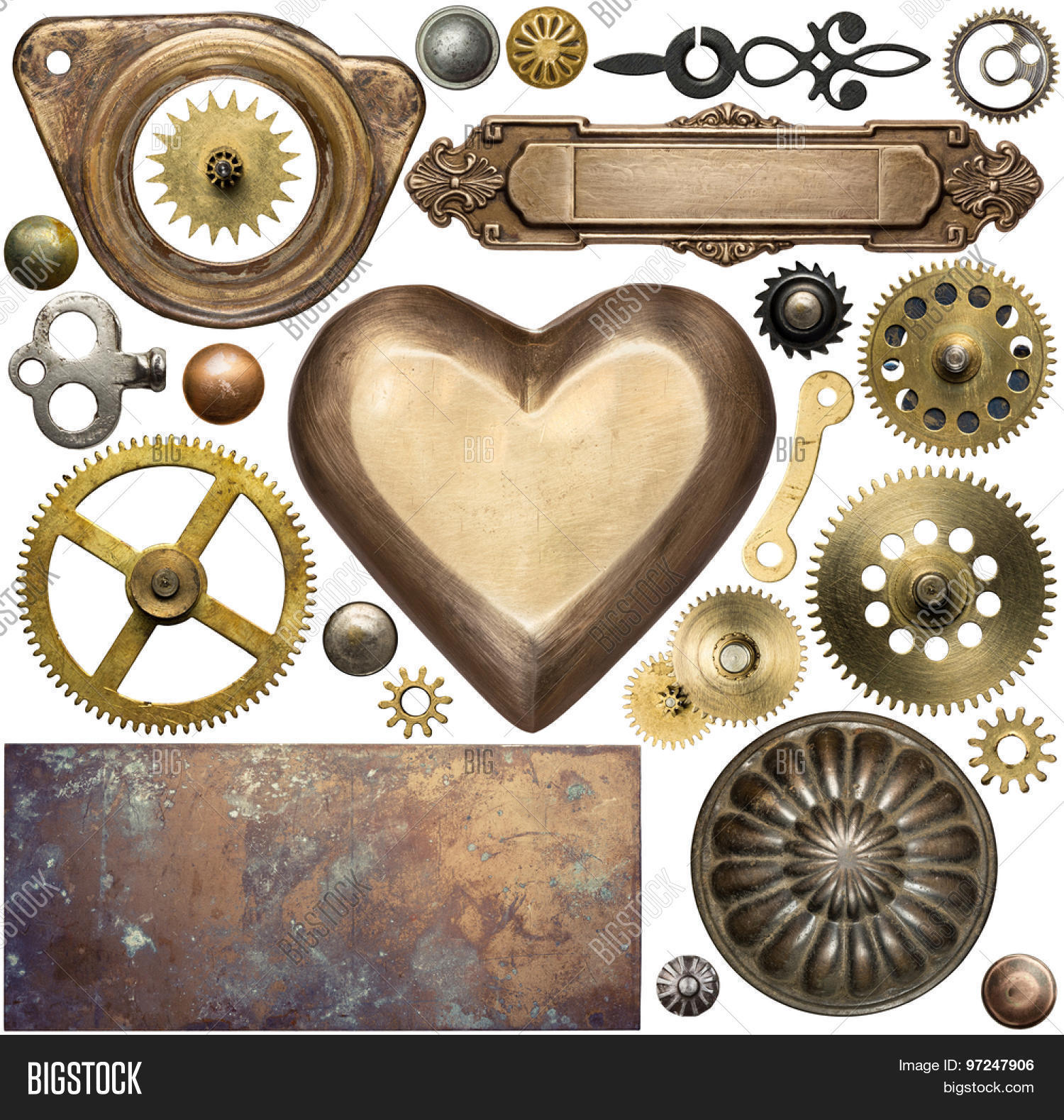 steampunk design elements images