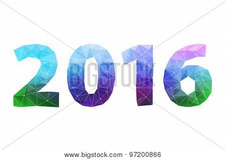 Happy New Year 2016 colorful symbol.