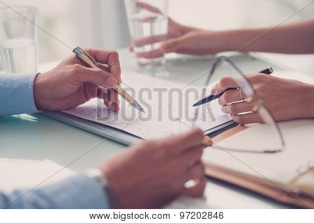 Discussing Business Document