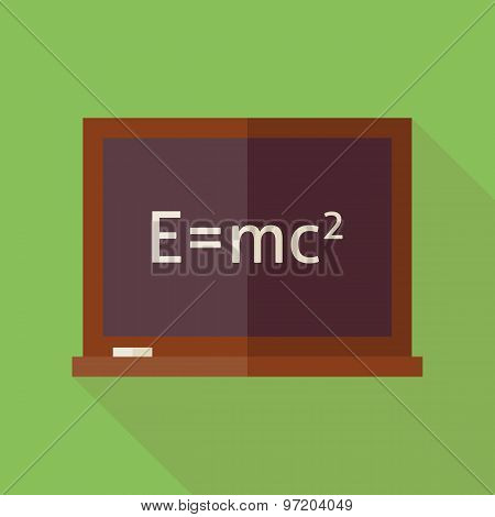 Flat Science And Education Blackboard Illustration With Long Shadow