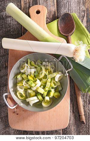 casserole with leek