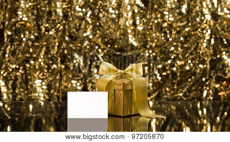 Gold Present With Place Card