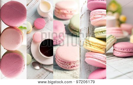 Macaroons Photo Collage