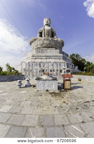 Giant Buddha statue in Phat Tich Pagoda on TienDu mountian