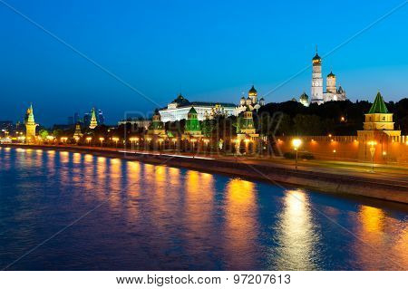 Kremlin evening landscape in Moscow, Russia