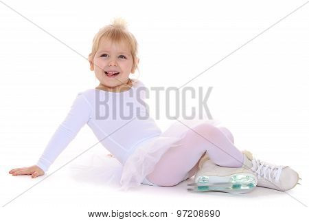little girl on skates