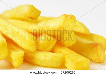 detail of freshly fried french fries