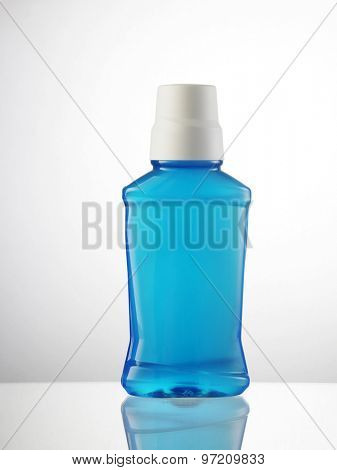 bottle of the mouth wash without label