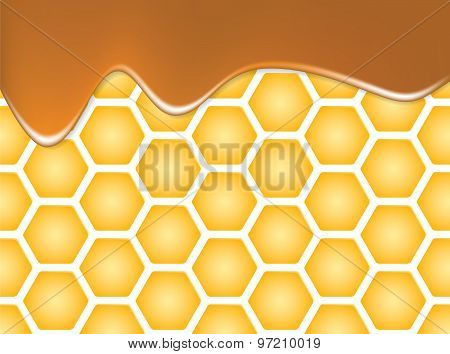 Abstract texture of honeycomb