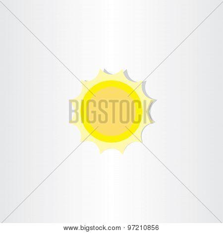 Soft Light Yellow Sun Icon