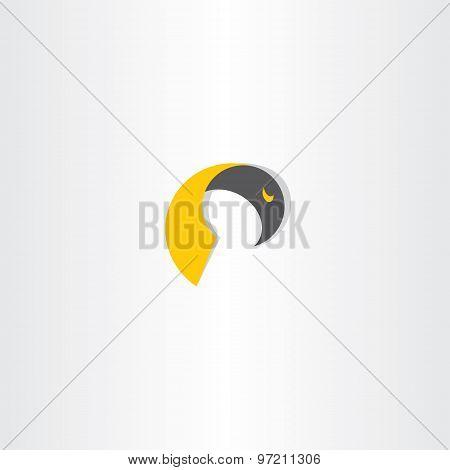 Eagle Bird Abstract Vector Icon Design