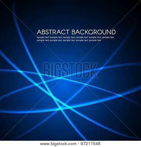 Light Curve line on Dark blue vector background