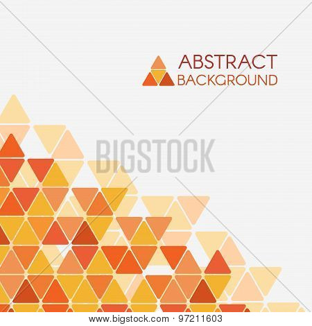 Orange yellow triangle corner vector abstract background