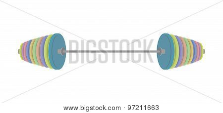 Barbell Isolated On White Background. Vector Illustrator