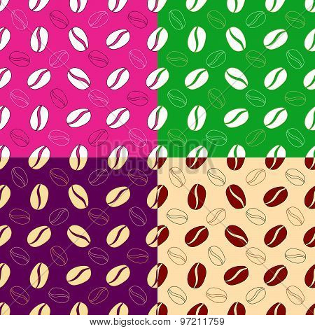 Seamless Background With Coffee Beans