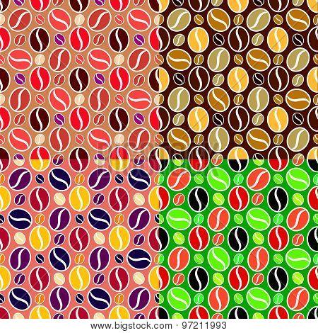 Set Of Coffee Seamless Textures