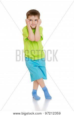 Distressed little boy