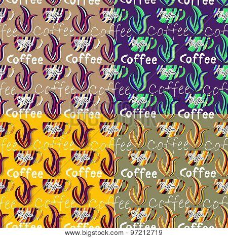 Beautiful Coffee Seamless Background