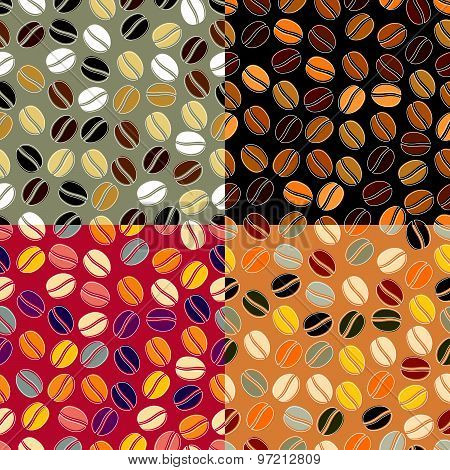 Colourful Coffee Seamless Background