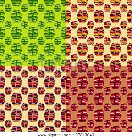 Brown Coffee Beans, Seamless Pattern