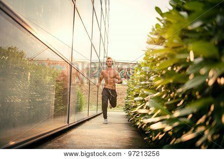 Young Male Jogging