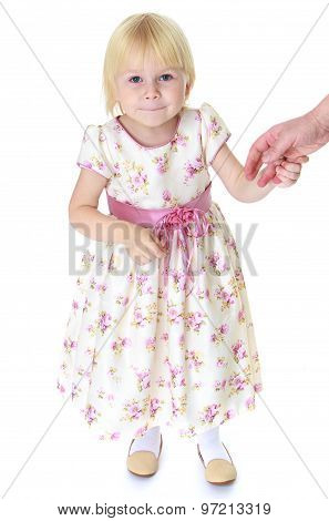 cute girl holding hands