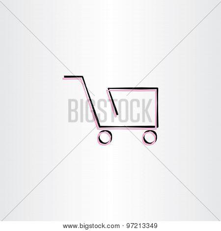 Shopping Cart Vector Icon Design