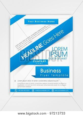 Corporate flyer, template or brochure design with place holders for your content.