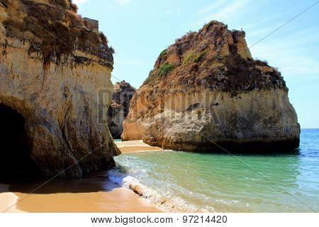 Limestone cliffs near Portimao