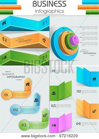 Stylish glossy business infographic layout.