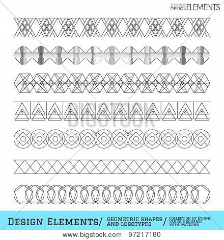 Set Of Geometric Hipster Shapes And Logotypes6548885111