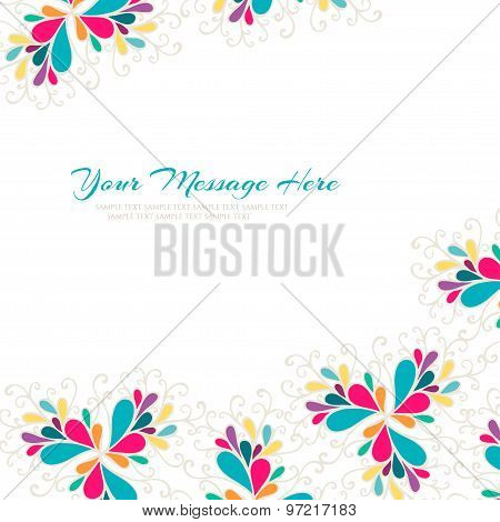 Bright card. Abstract colorful vector illustration