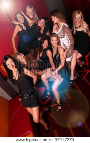 Image of pretty girls having fun in night club