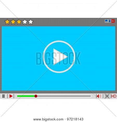 Video Movie Media Player Interface.