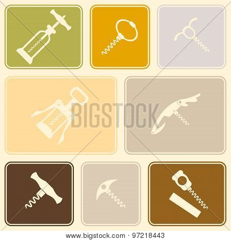 Seamless background with corkscrew