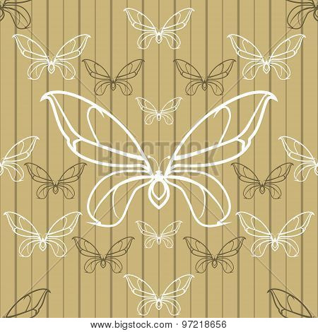 Beautiful Seamless Background With Butterflies